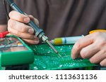 repair and restore pcb of a... | Shutterstock . vector #1113631136