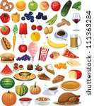 a collection of vector food... | Shutterstock .eps vector #111363284