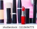 lipsticks on white background | Shutterstock . vector #1113636773