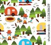 campground   caravan  camping... | Shutterstock .eps vector #1113638639