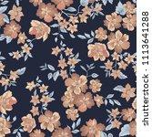 floral seamless pattern. flower ... | Shutterstock .eps vector #1113641288