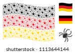 waving germany official flag.... | Shutterstock .eps vector #1113644144