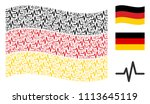 waving germany official flag.... | Shutterstock .eps vector #1113645119