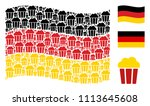 waving germany official flag.... | Shutterstock .eps vector #1113645608