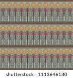 seamless decorative pattern in...   Shutterstock .eps vector #1113646130