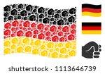 waving germany state flag.... | Shutterstock .eps vector #1113646739