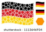waving german official flag.... | Shutterstock .eps vector #1113646934