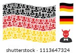 waving german flag. vector... | Shutterstock .eps vector #1113647324
