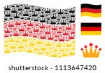 waving german state flag.... | Shutterstock .eps vector #1113647420