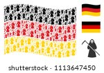 waving german flag. vector... | Shutterstock .eps vector #1113647450