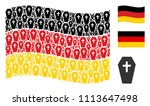 waving germany official flag.... | Shutterstock .eps vector #1113647498