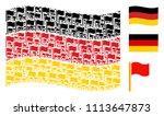 waving german flag. vector... | Shutterstock .eps vector #1113647873