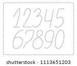 numbers. vector illustration. | Shutterstock .eps vector #1113651203