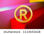 gold registered icon on the... | Shutterstock . vector #1113652628