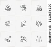 landscape line icon set with... | Shutterstock .eps vector #1113656120