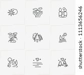 landscape line icon set with...   Shutterstock .eps vector #1113656246