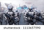 invasion of military robots.... | Shutterstock . vector #1113657590