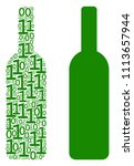 wine bottle collage icon of... | Shutterstock .eps vector #1113657944
