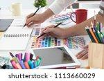 team of creative designers... | Shutterstock . vector #1113660029