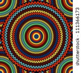 seamless knitted pattern   Shutterstock .eps vector #111366173