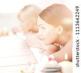 two young beautiful women... | Shutterstock . vector #1113662249