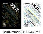 t shirt design sports running... | Shutterstock .eps vector #1113669290