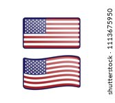 american usa waving flag set... | Shutterstock .eps vector #1113675950