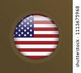 glossy american america usa...   Shutterstock .eps vector #1113675968