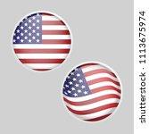 glossy round glass usa america...   Shutterstock .eps vector #1113675974