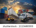 logistics and transportation of ... | Shutterstock . vector #1113680303
