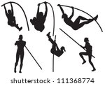 vector pole vaulting | Shutterstock .eps vector #111368774