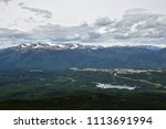 Small photo of Landscape photograph of the town of Grande Cache, Alberta, Canada taken from the top of Mount Louie.