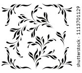 decorative floral pattern for...   Shutterstock .eps vector #1113701129