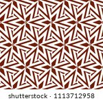 seamless pattern with symmetric ... | Shutterstock .eps vector #1113712958