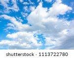 sky blue or azure sky and cloud ... | Shutterstock . vector #1113722780