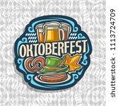 logo for oktoberfest on grey... | Shutterstock . vector #1113724709