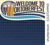 poster for oktoberfest text ... | Shutterstock . vector #1113724943