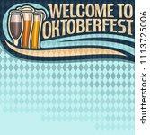 poster for oktoberfest text ... | Shutterstock . vector #1113725006