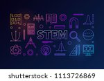 stem creative colored banner in ... | Shutterstock .eps vector #1113726869