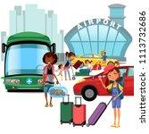 airport transfer  public...   Shutterstock .eps vector #1113732686