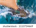 mona vale australian rock pool... | Shutterstock . vector #1113734669