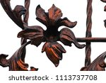 wrought iron gates  ornamental... | Shutterstock . vector #1113737708