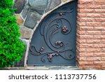 wrought iron gates  ornamental... | Shutterstock . vector #1113737756