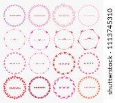 vector set of round frames for...   Shutterstock .eps vector #1113745310