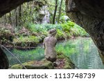 statue of back nude woman seen... | Shutterstock . vector #1113748739