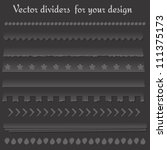 set of vector dividers for your ... | Shutterstock .eps vector #111375173