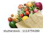 shopping package organic... | Shutterstock . vector #1113754280