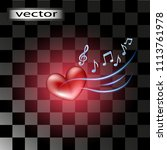 vector background music  melody ... | Shutterstock .eps vector #1113761978