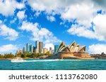 the city skyline of sydney ...   Shutterstock . vector #1113762080