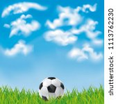background with a soccer ball.... | Shutterstock .eps vector #1113762230